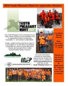 Youth Pheasant Hunt @ Hullett Marsh