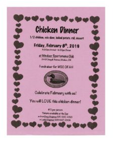 Chicken Dinner Fundraiser @ Windsor Sportsman Club