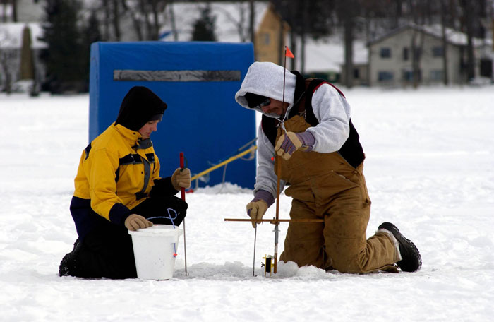 Ice Fishing Dad And Son Combo