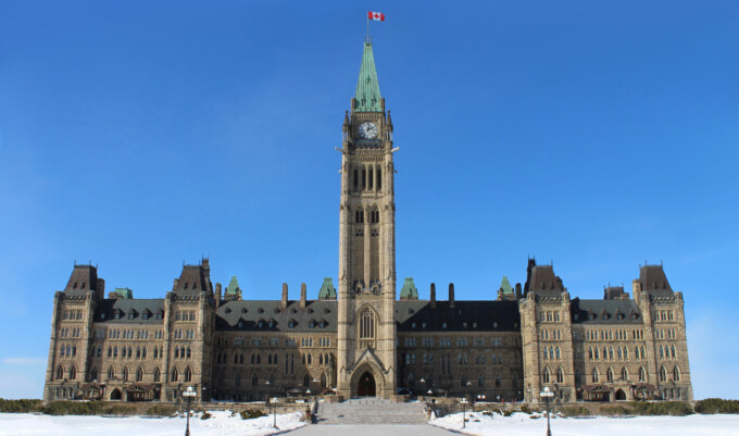 Parliament Of Canada In The Canadian Capital City Of Ottawa Onta