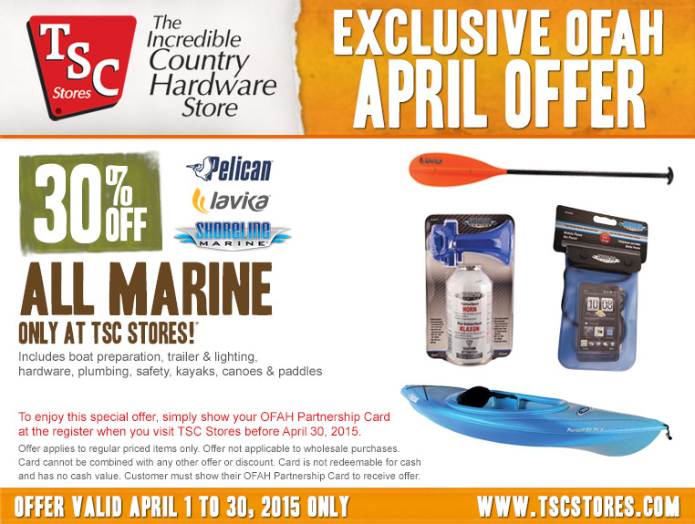 TSC Stores - Special Offer for OFAH Members