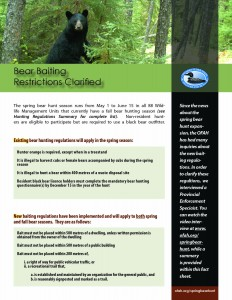 bear baiting restrictions clarified
