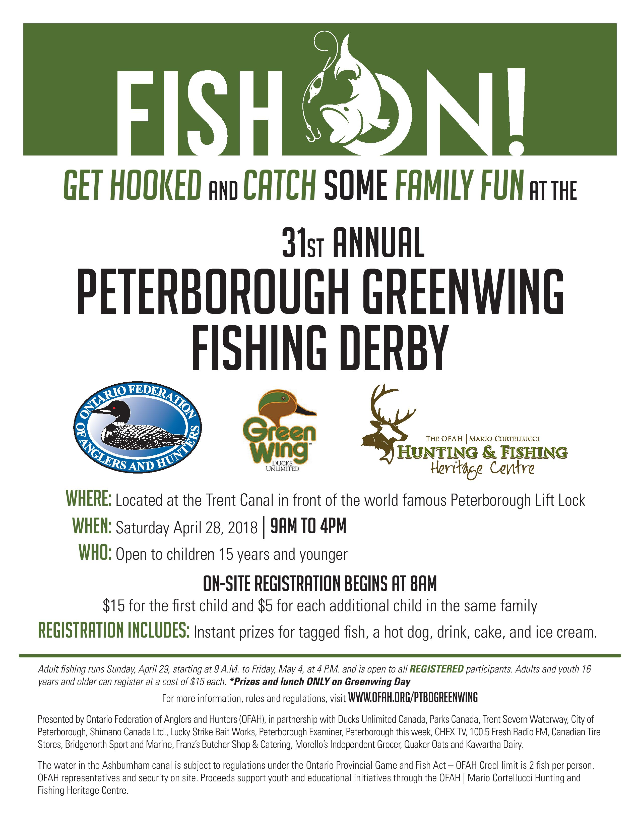 31st Annual Peterborough Greenwing Fishing Derby | Ontario ...