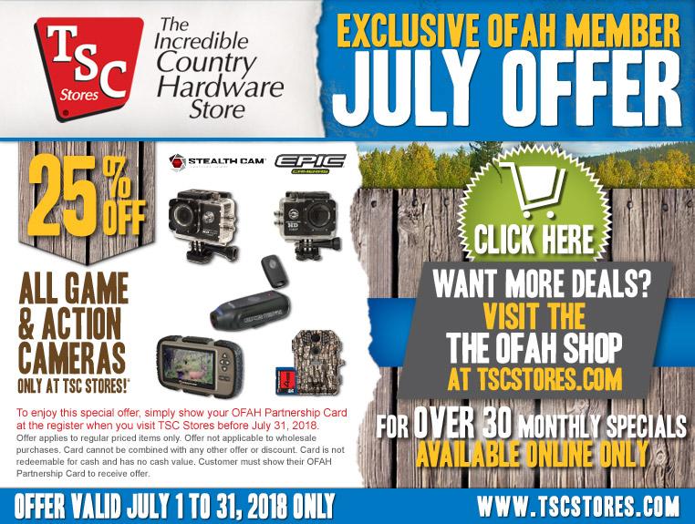 OFAH/TSC July Promo