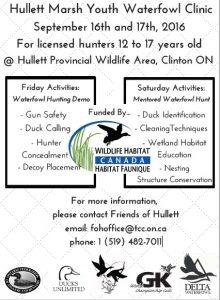 Hullett Marsh Youth Waterfowl Clinic