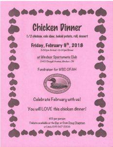 Windsor Sportsmens Club Chicken Dinner